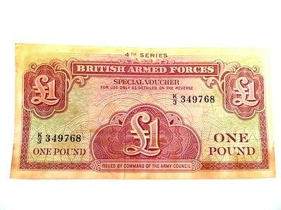 BRITISH ARMED FORCES--£1 SPECIAL VOUCHER--4th SERIES