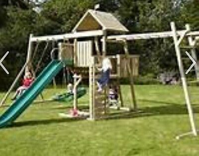 Wooden Climbing Frame With Slide
