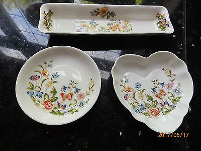 Set of 3 Aynsley/Ainsley Cottage Garden Trinkets