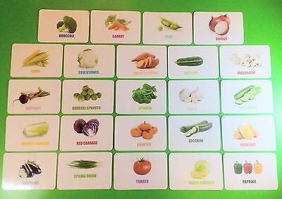 Vegetables Flash Cards / Educational Cards / Early Learning