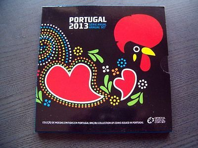 KMS Euro Portugal 2013 - 1 cent - 2 Euro - orig. Folder