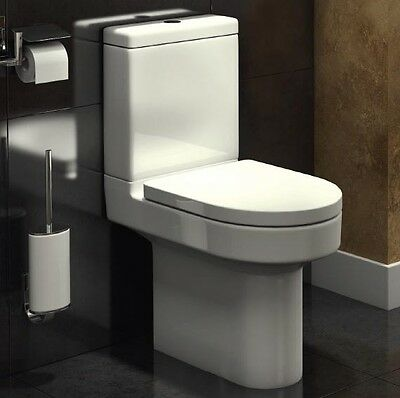 Short Projection 600mm Close Coupled Toilet Pan Cistern WC