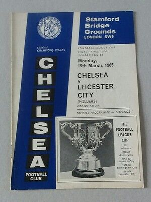 1965 Chelsea v Leicester League Cup Final