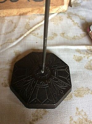 Butterfly  Art Deco Cast Iron Desk Paper Spike Bill Receipt Holder