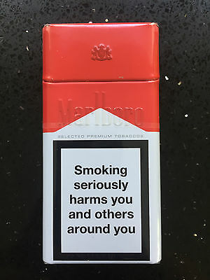 Marlboro Red Collectors Tin Holds 10 Cigarettes Rare Limited Edition