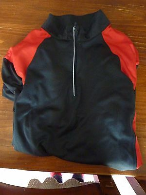 Men's Size Medium Uk 38 Cycling Long Sleeve Jersey Top With Back Pockets