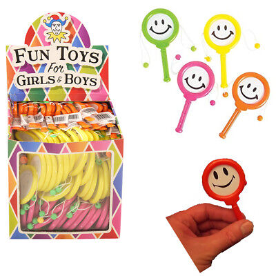 3,6,12 Mini Smiley Face Hand Drums Kid's Party Bag Fillers Loot Fun Colouful Toy