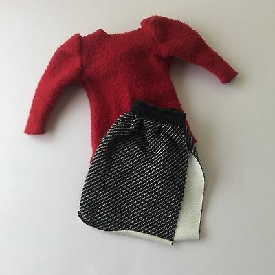 Barbie 1984 Twice as Nice #7950 Top + Skirt with label vintage dolls clothes