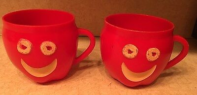Kellogg's Apple Jacks Cereal Red Cup Mug – Vintage Cereal Mail-In Premium 1960s