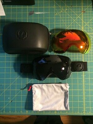 Dragon Alliance APX Snow Ski Goggle All black + Ionized Spherical Lens