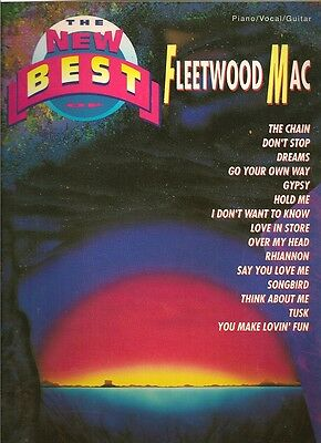 Fleetwood Mac Sheet Music Songbook -The New Best Of -Piano -Vocal -Guitar