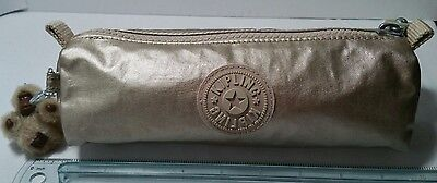 Kipling Freedom Cosmetic Bag Pen Case in Gold Metallic