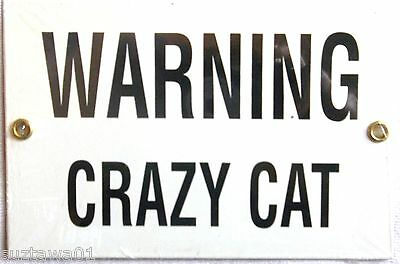Warning Crazy Cat Sign Advertising Porcelain Cat Sign Wall Decor Free Shipping