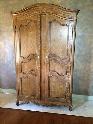 "Baker Furniture Co. Large Armoire French Provincial Style 48""x19""x83.5"""