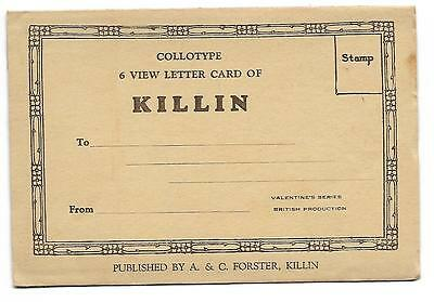 Killin Souvenir Valentines Letter Card .unused    Vintage 6  Views