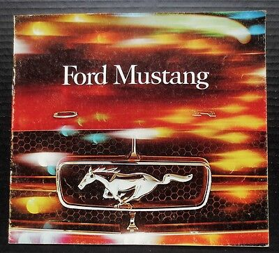 "Genuine 1965 Ford Mustang Brochure~Canadian Version~12 Pages~10.25"" X 11""~Fmc65"