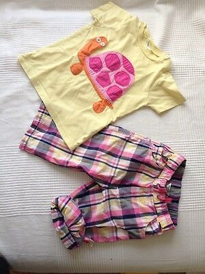 Baby Boden girl t-shirt size 18-24m  and roll up trousers 18-24