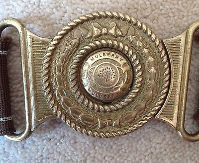 Vintage Mulberry Ladies Brass Belt Buckle RARE Authentic