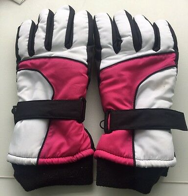Thinsulate Insulation 40grams Pink / White / Black Gloves
