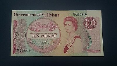GOVERNMENT OF ST. HELENA  £10 Banknote 1985  in BUNC condition.