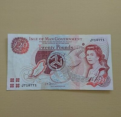 ISLE OF MAN  £20 Pound Banknote 2010 in EF condition