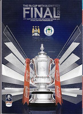 Football Programme FA Cup Final 2013 Manchester City v Wigan Athletic MINT