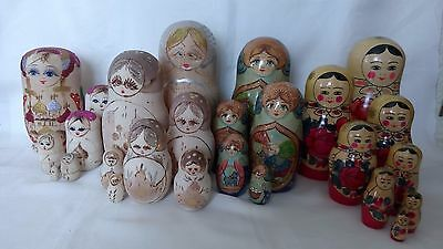 Lovely Collection Of Four Assorted Russian Nesting Dolls Sets (One Fairy Tale)