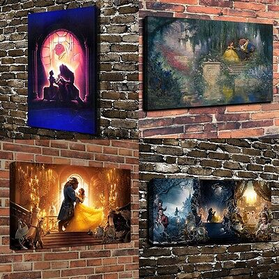 Disney Beauty And The Beast Series HD Oil Painting Art Print Canvas Home Decor