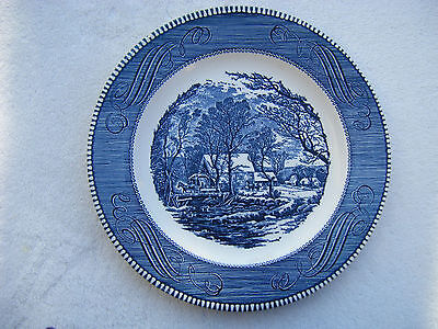 Currier and Ives The Old Grist Mill Plate