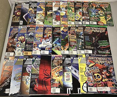 Lot of 31 Vintage Nintendo Power Magazines 1997-2001 Includes Posters!!