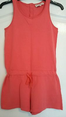 M & S girls coral summer/ beach playsuit age 10 years