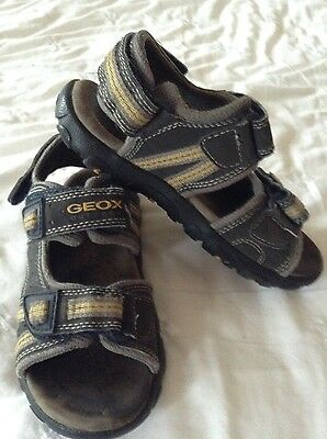 GEOX Boys Summer Casual/ Sporty Charcoal Grey Sandals, Size 29 / UK11