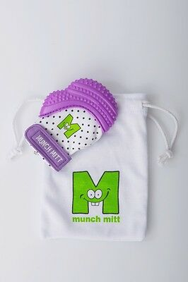 Munch Mitt Baby Teething Mitten - Purple Shimmer - FREE SHIPPING