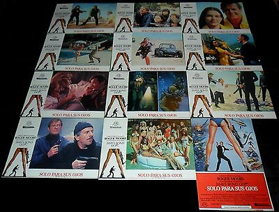 1981 For Your Eyes Only ORIGINAL SPAIN LOBBY CARD SET James Bond 007 Roger Moore