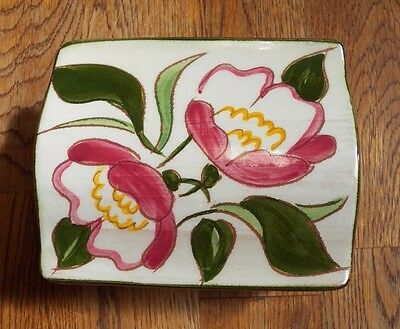 Vintage Stangl Pottery Marsh Rose Pattern Trinket Box #3799