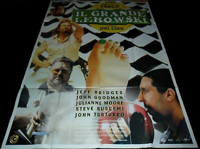 1998 The Big Lebowski ORIGINAL ITALIAN 4Foglio POSTER Jeff Bridges Coen Brothers
