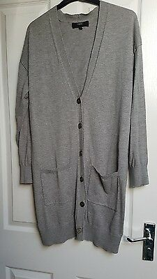 Next womens grey boyfriend cardigan size 14 used