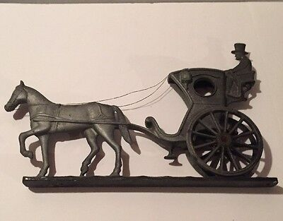 Vintage House ,Name Address Sign - Plaque Cast Aluminum Horse And Carriage