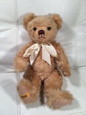 """VINTAGE MERRY THOUGHT MOHAIR BEAR 17"""" Limited Edition Makes Sounds 1 Of 1,000"""
