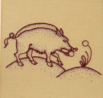 """Crewelwork Embroidery Kit """"Heritage Boar"""" By Melbury Hill"""