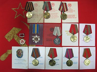 ORDER CROSS FOR COURAGE 3 class #247921 Victory over Germany medals UKRAINE USSR