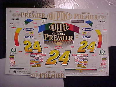 New 1997 Jeff Gordon #24 Dupont Chroma Premier 1/24-1/25 Scale Slixx Decal Sheet