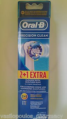 Oral-B Precision Clean Electric Touthbrush Replacement Brush Heads  By Braun