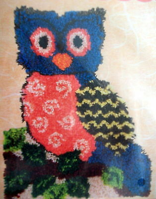 "Craftways Latch Hook Bird  Rug Kit ""ollie Owl Shaped Rug"""