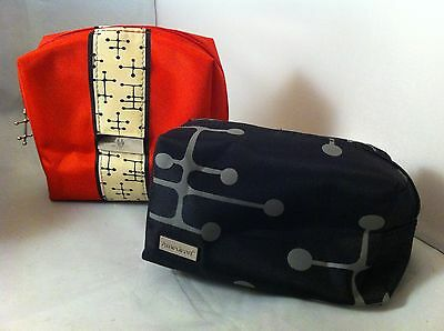 "American Airlines ""Eames Office Dot Pattern""  2 Amenity Travel Bags"