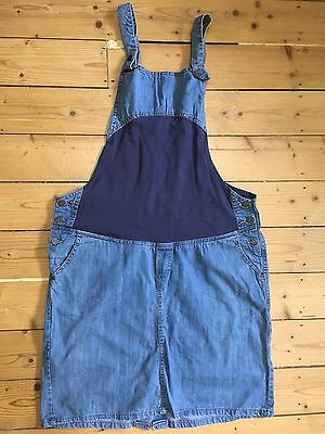 PRENATAL FUTURE MOM Dungaree Denim Skirt Size UK 18
