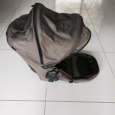 SEAT for STEELCRAFT STRIDER PLUS OR STRIDER COMPACT STROLLER CANOPY BROWN
