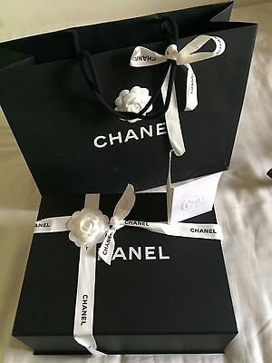 "Authentic chanel empty magnetic box 11.6""×9""×4.35"" with paper bag"