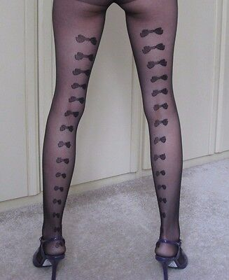 Stunning! - Rear Patterned Tights - one size - NEW