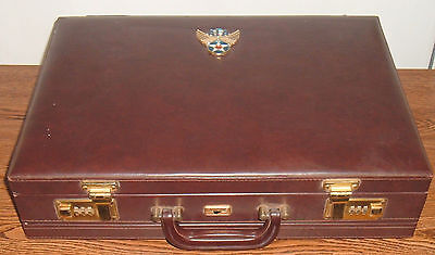 United States Air Force Academy Skyline Combination Lock Briefcase